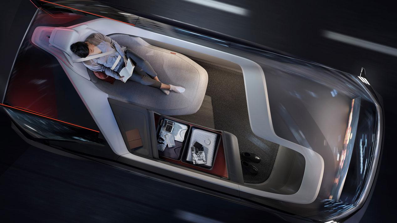 El Volvo 360c autónomo, en imágenes