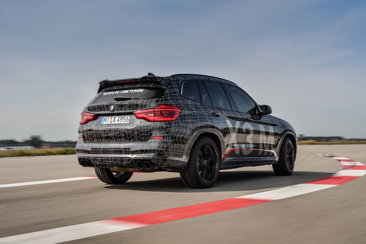 Los BMW X3 M y X4 M 2019 ruedan camuflados en Nürburgring