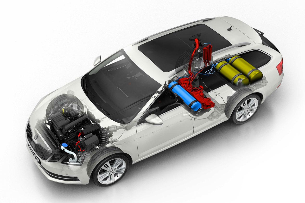 El Octvia GNC se renueva con mayor potencia y autonomía a gas