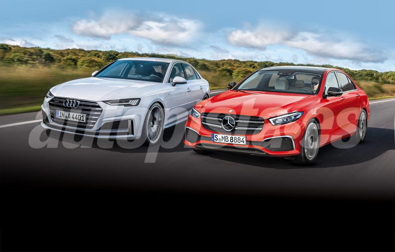 El Audi A4 2020 y el Mercedes Clase C 2021, en imágenes