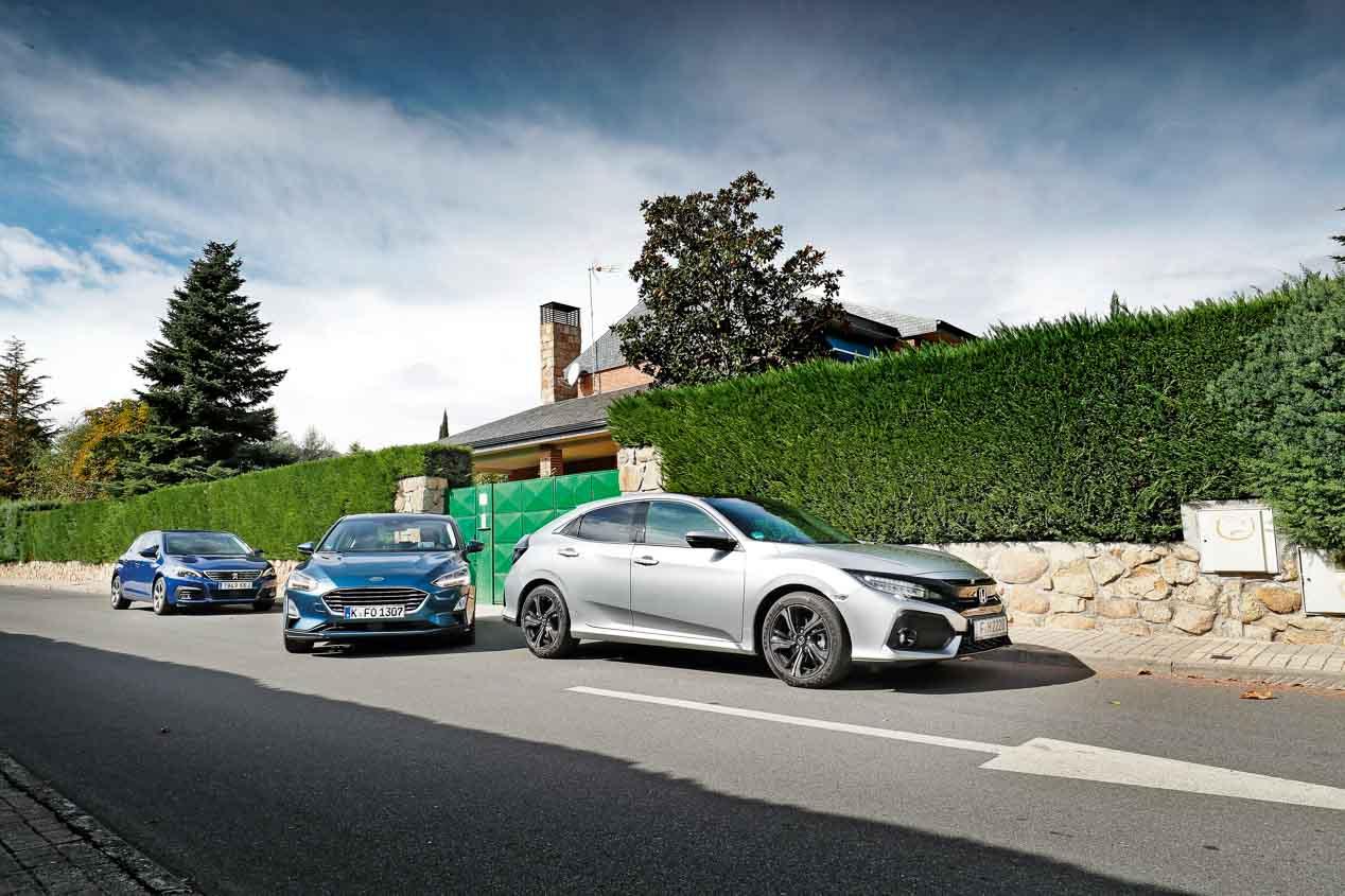 Comparativa: Ford Focus, Honda Civic y Peugeot 308: ¿qué compacto es mejor?