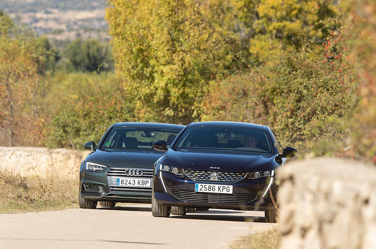 Audi A4 y Peugeot 508, cara a cara
