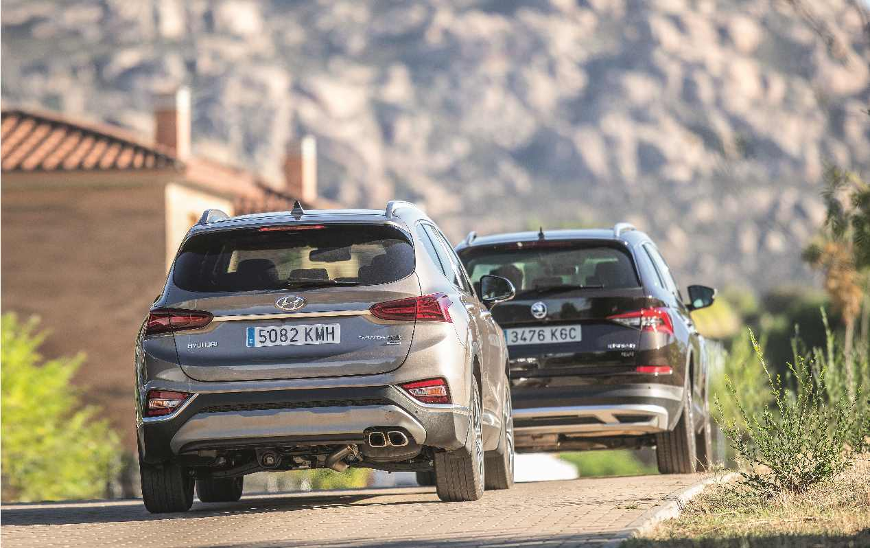 Comparativa SUV: Hyundai Santa Fe vs Skoda Kodiaq