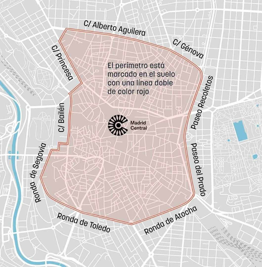Zona Ser Madrid Mapa 2019.Madrid Central Todas Las Calles Por Las Que No Podras