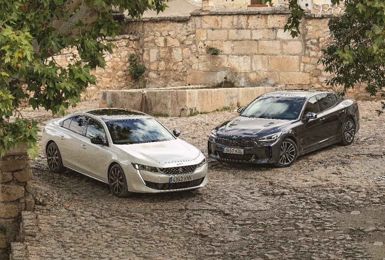 Peugeot 508 vs Kia Stinger: duelo de berlinas Diesel