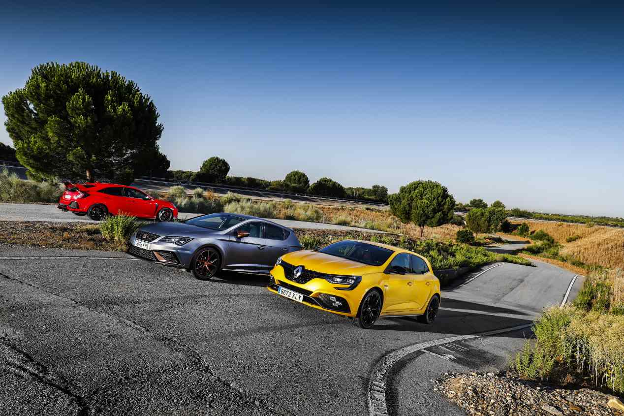 Comparativa: Honda Civic Type R, Seat León Cupra R y Renault Mégane RS Cup