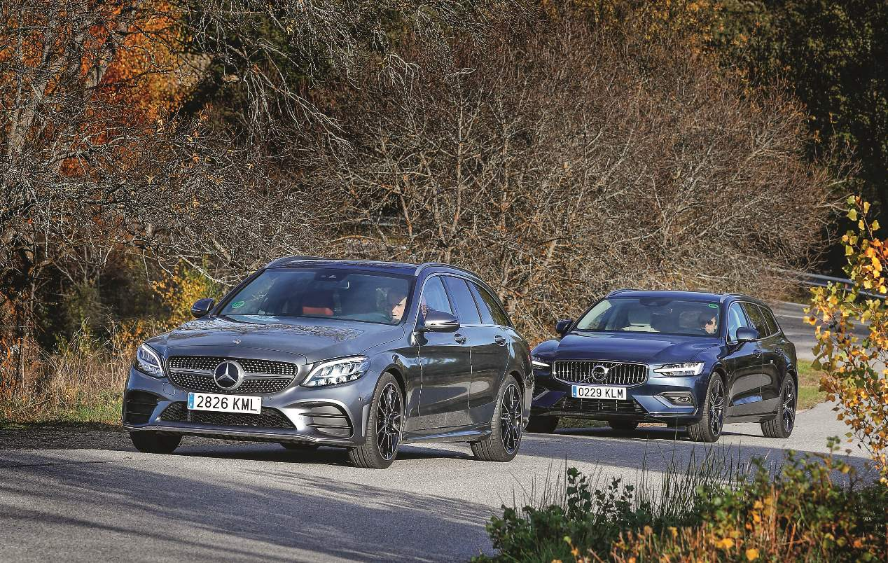 Comparativa: Mercedes Clase C familiar vs Volvo V60