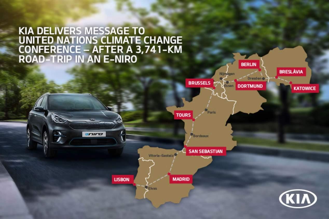 El Kia e-Niro completa un viaje de casi 4.000 km
