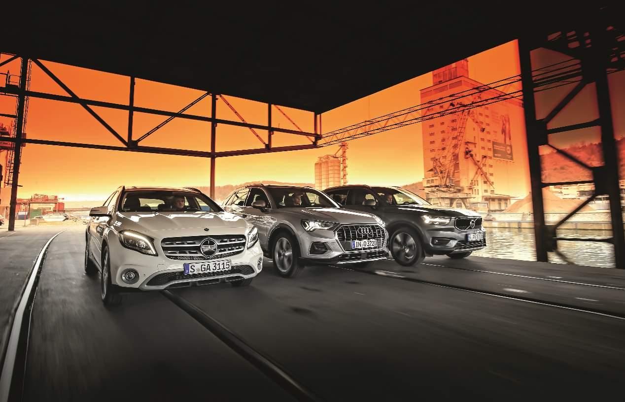Comparativa SUV: Audi Q3, Mercedes GLA y Volvo XC40