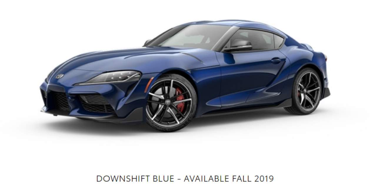 El Toyota Supra 2019 y sus colores
