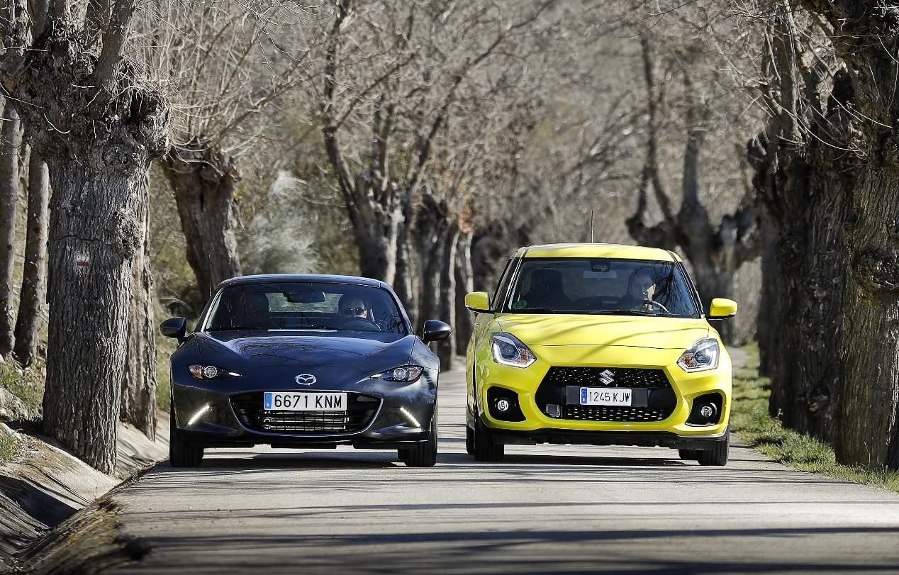 Comparativa Mazda MX-5 vs Suzuki Swift Sport