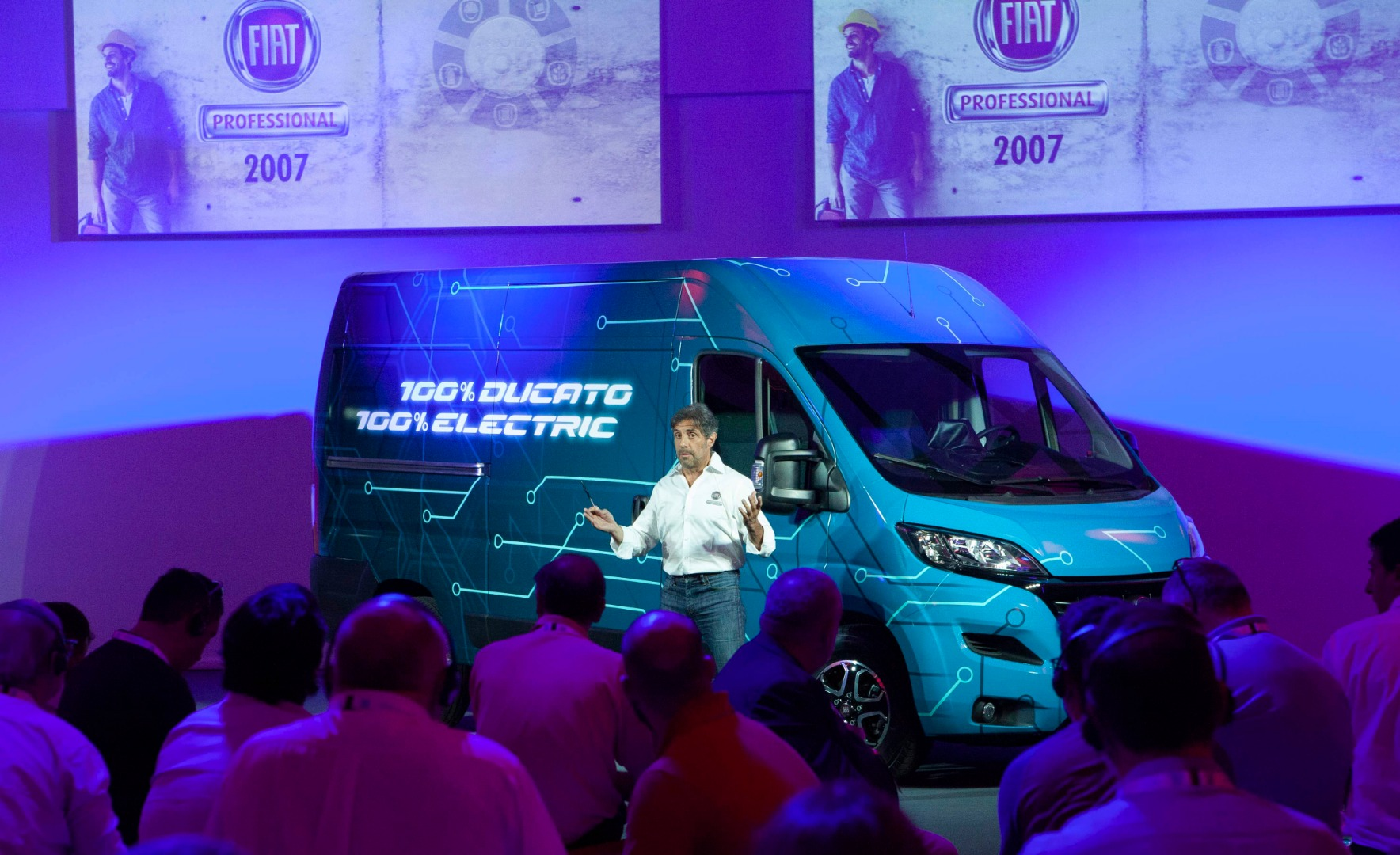 La Fiat Ducato eléctrica, en fotos