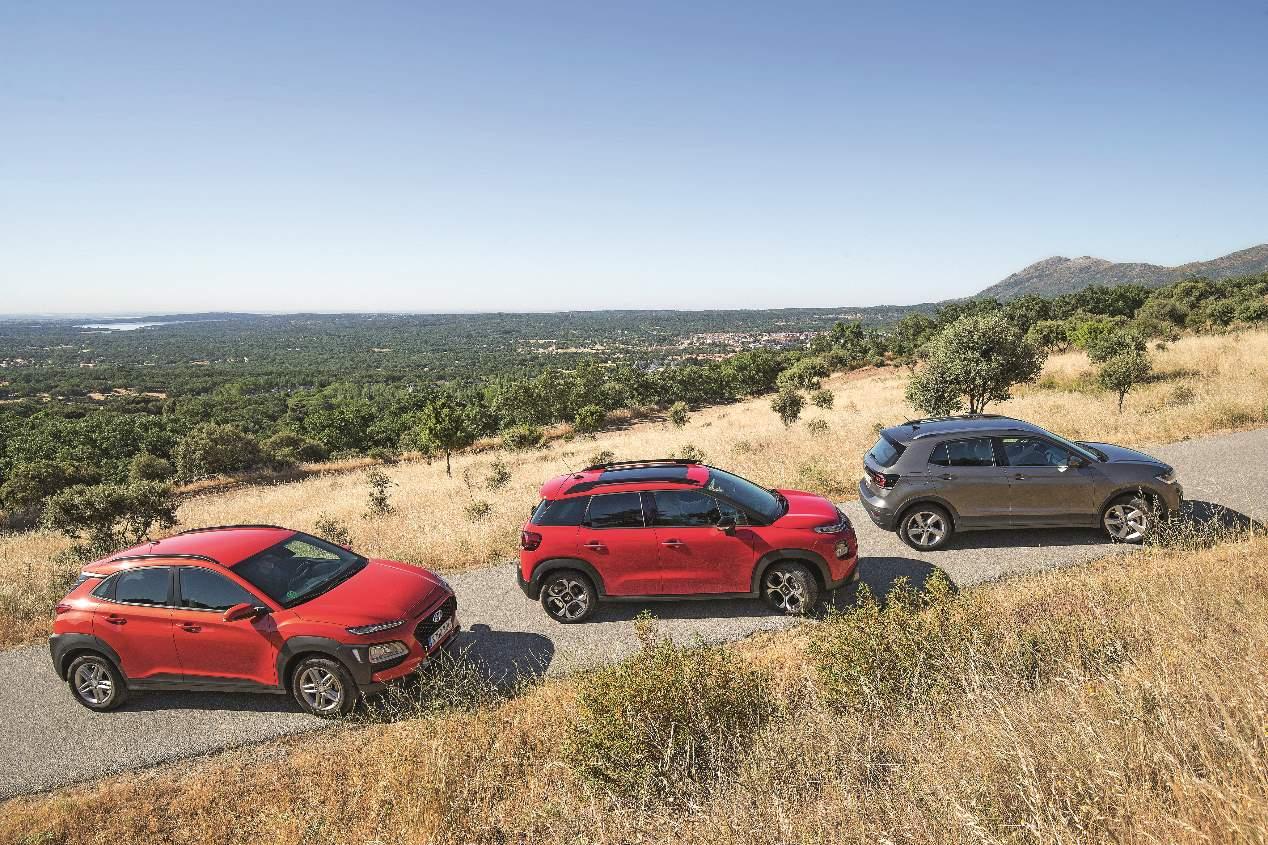 Comparativa SUV: Citroën C3 Aircross, Hyundai Kona y VW T-Cross