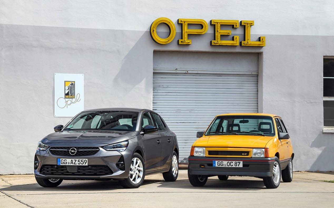 Opel Corsa: primera y última generación, juntas en Frankfurt