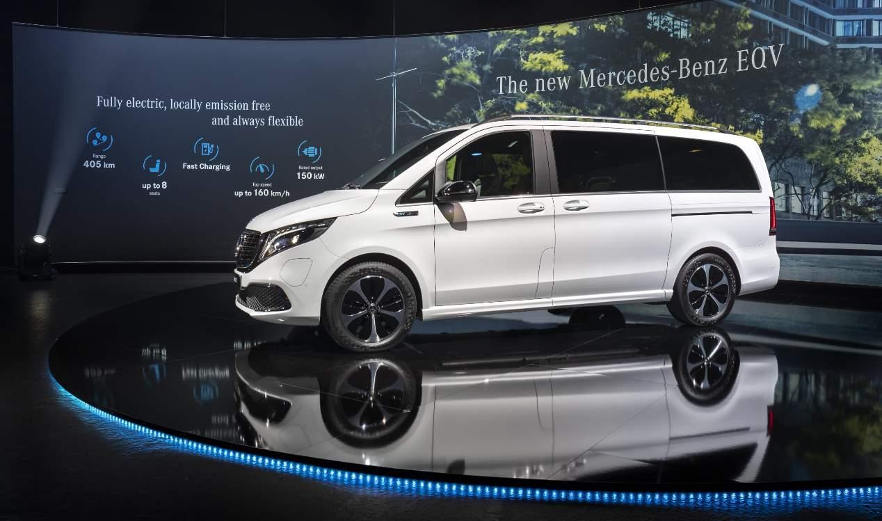 Mercedes EQV 2020, las fotos de la nueva furgoneta eléctrica