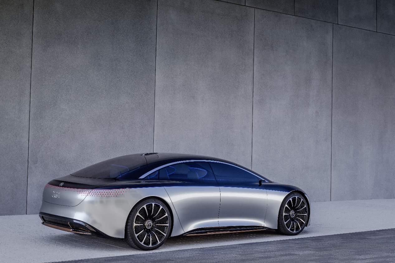 Mercedes Vision EQS: la futura berlina eléctrica a todo lujo