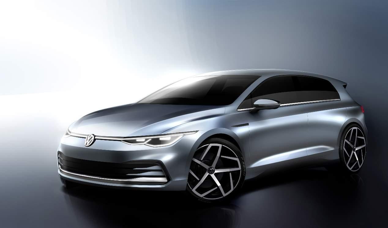 VW Golf 8: nuevas imágenes oficiales del compacto que se presenta en octubre