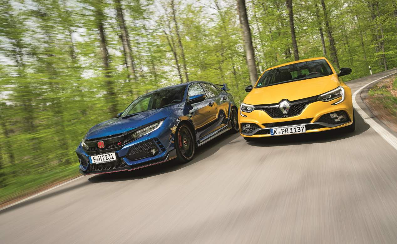 Comparativa GTI: Honda Civic Type R vs Renault Mégane RS Trophy