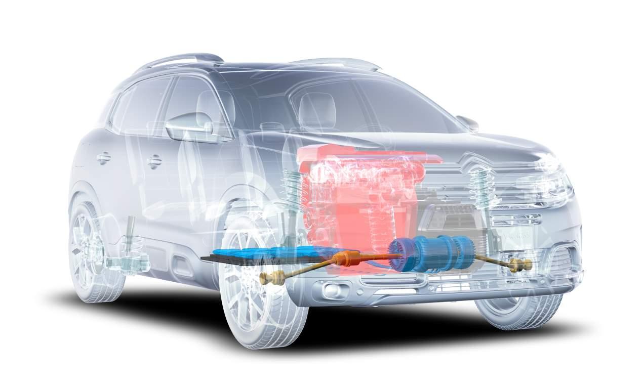 Combinación de motores en un vehículo Híbrido enchufable
