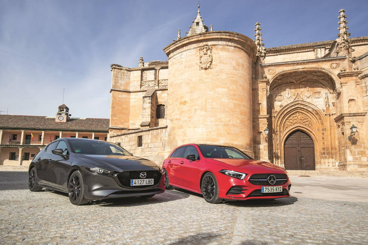 Mazda3 frente a Mercedes Clase A: dos compactos de gran personalidad