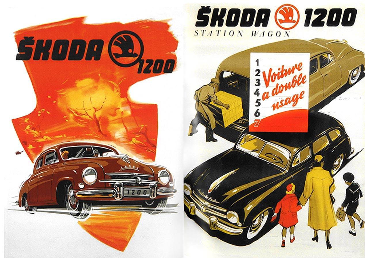 Anuncios de publicidad históricos de Skoda