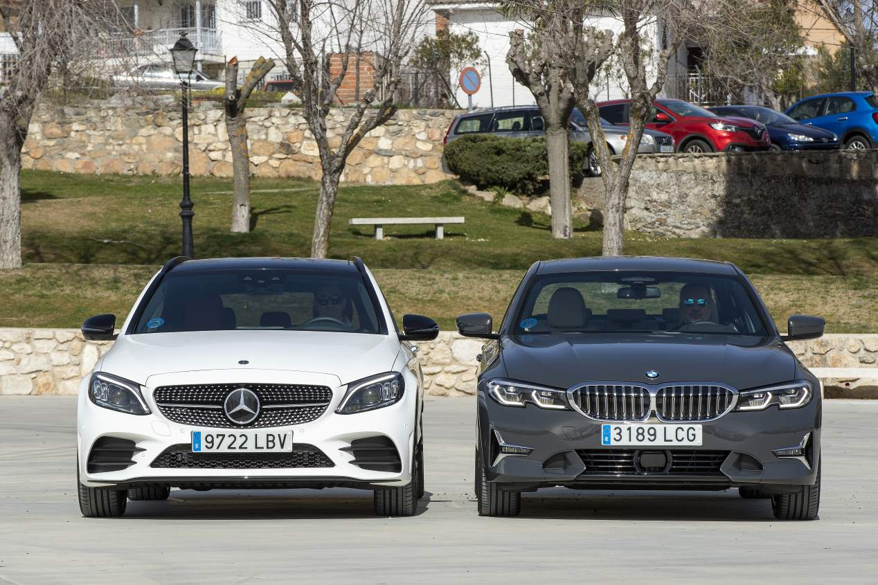 BMW 330e vs Mercedes C 300 de: duelo de berlinas híbridas enchufables