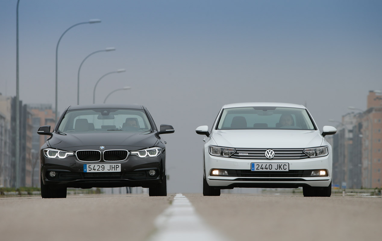 BMW 316d vs Volkswagen Passat 1.6 TDI: berlinas ultra eficientes