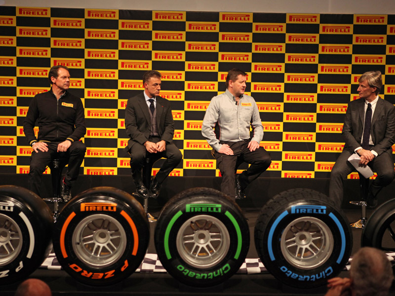 Nuevos neumáticos de la Fórmula 1 2013 de Pirelli