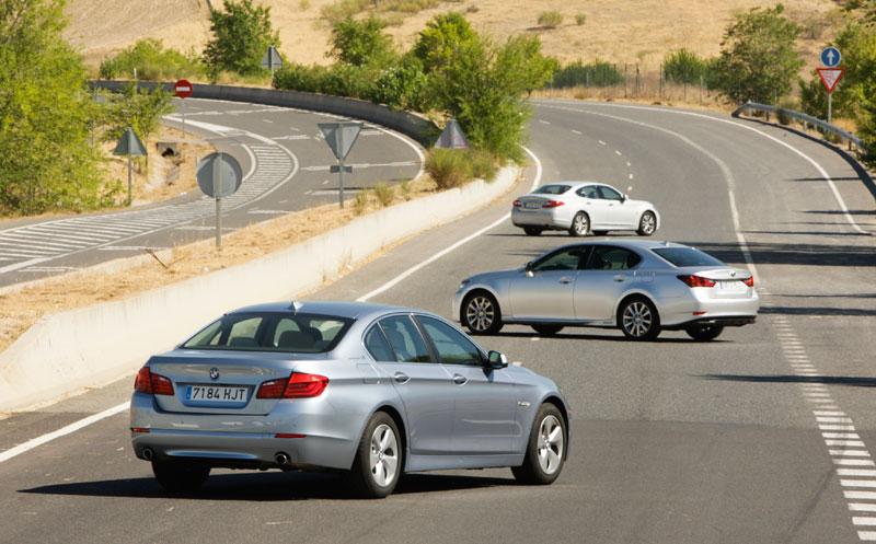 Comparativa: BMW ActiveHybrid 5 vs Infiniti M35h y Lexus GS 450h