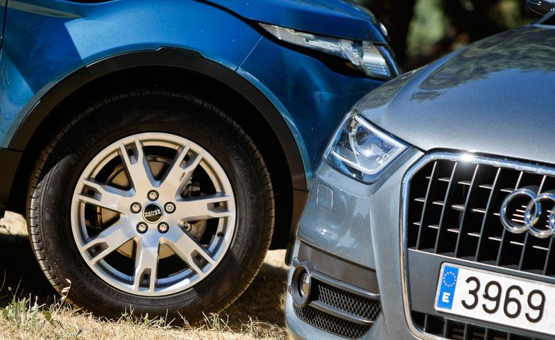 Comparativa: Range Rover Evoque eD4 Pure 2WD vs Audi Q3 2.0 TDI 4x2