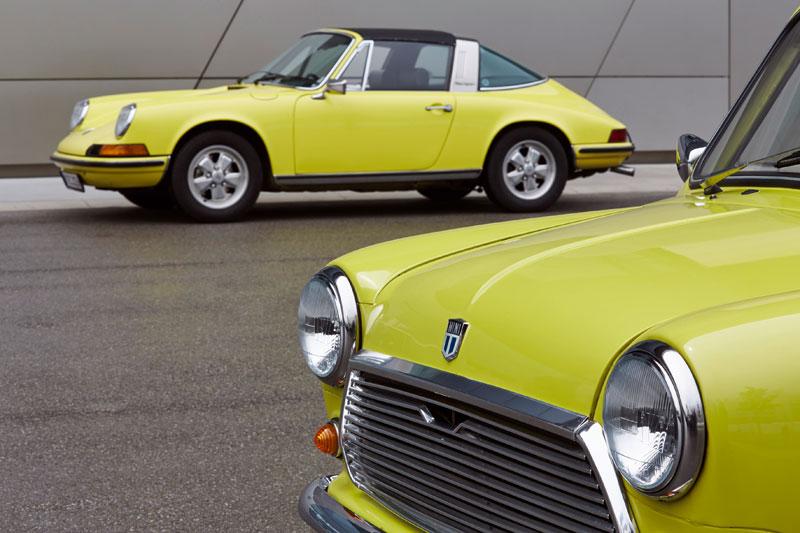 El Mini Classic felicita al Porsche 911