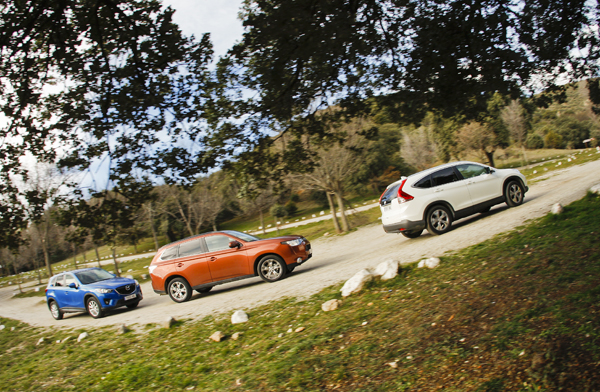 Comparativa: Honda CR-V vs Mazda CX-5 y Mitsubishi Outlander