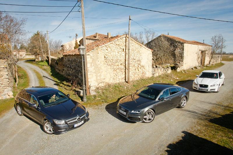 Comparativa: Audi A7, Mercedes CLS y Jaguar XF, todos quieren ser coupé