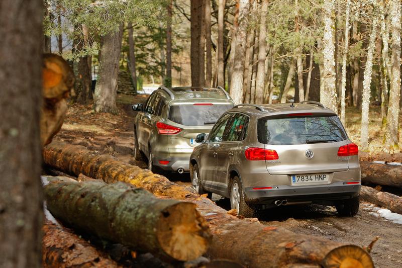 Comparativa: Ford Kuga AWD vs VW Tiguan 4x4