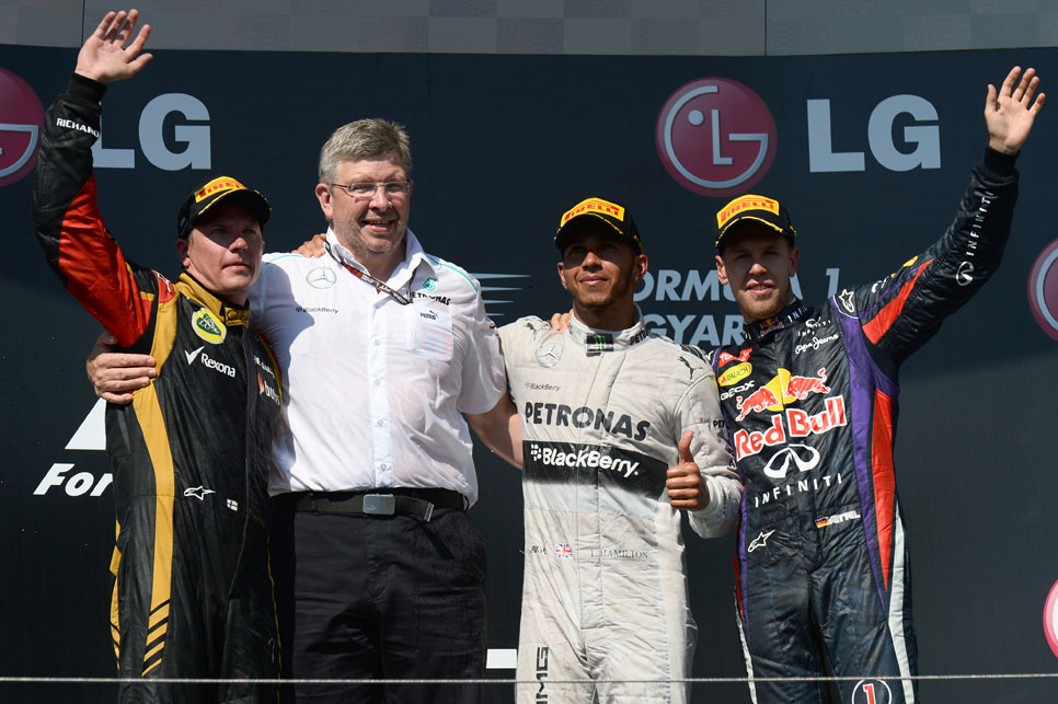 Podio GP Hungría