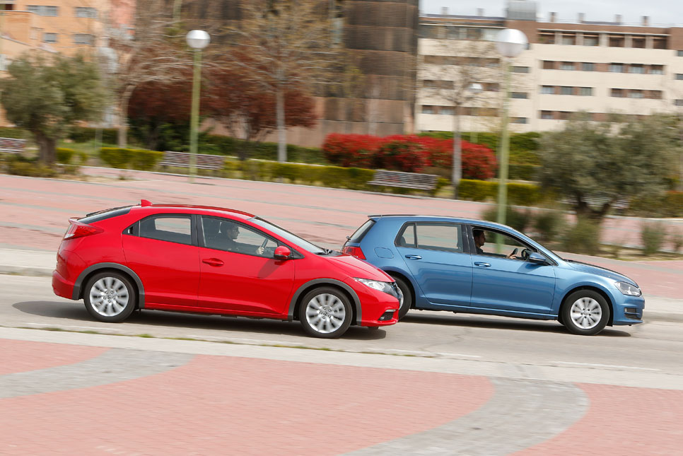 Honda Civic y VW Golf