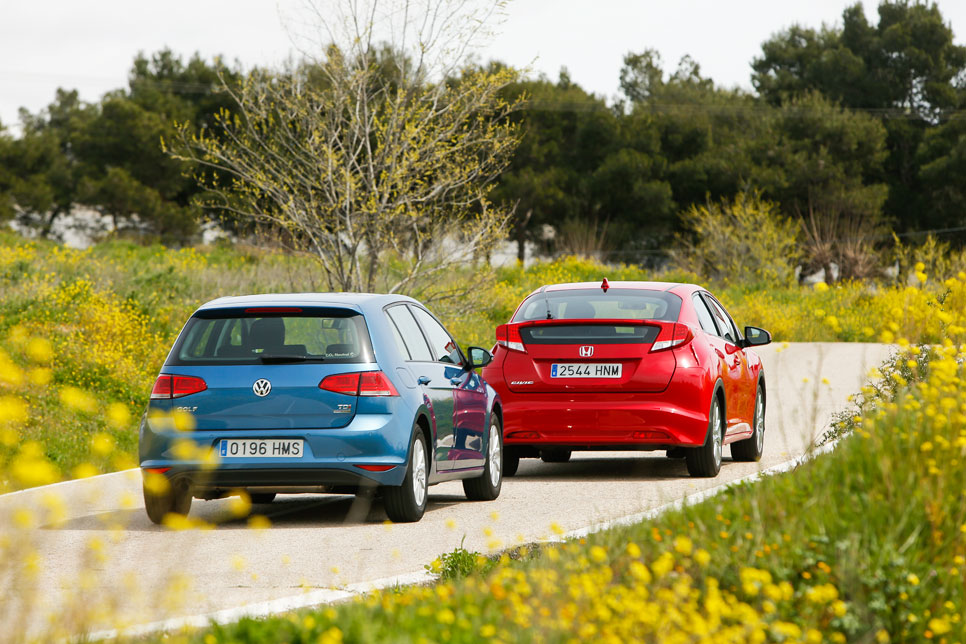Honda Civic 1.6 i-DTEC vs VW Golf 1.6 TDI