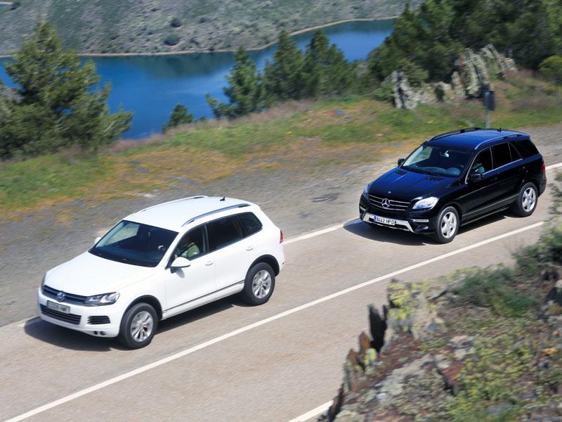 VW Touareg 3.0 V6 TDI Bluemotion Tiptronic vs Mercedes M250 BT 204 4Matic 5p 7G-Tronic