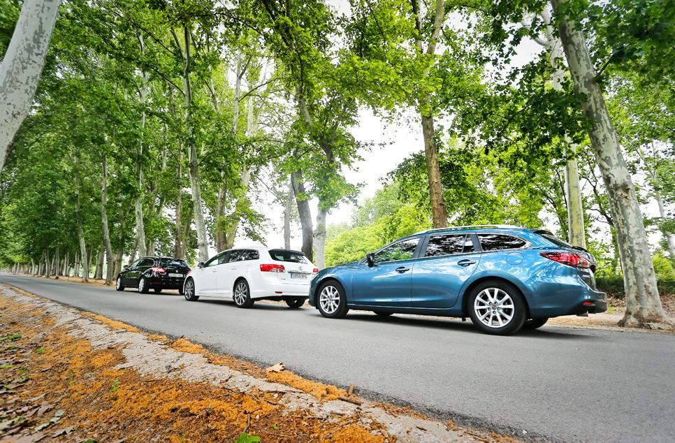 Peugeot 508 SW, Mazda 6 SW y Toyota Avensis Cross Sport