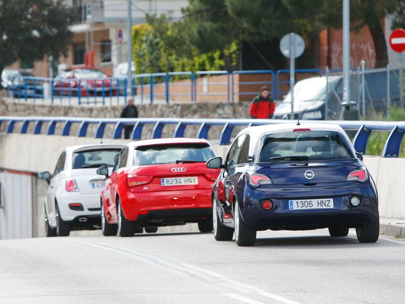 Comparativa: Audi A1 1.2 TFSI vs Fiat 500 0.9 TwinAir vs Opel Adam 1.4