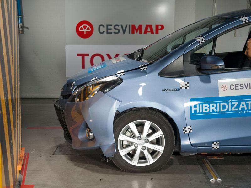 Toyota Yaris híbrido, prueba de choque