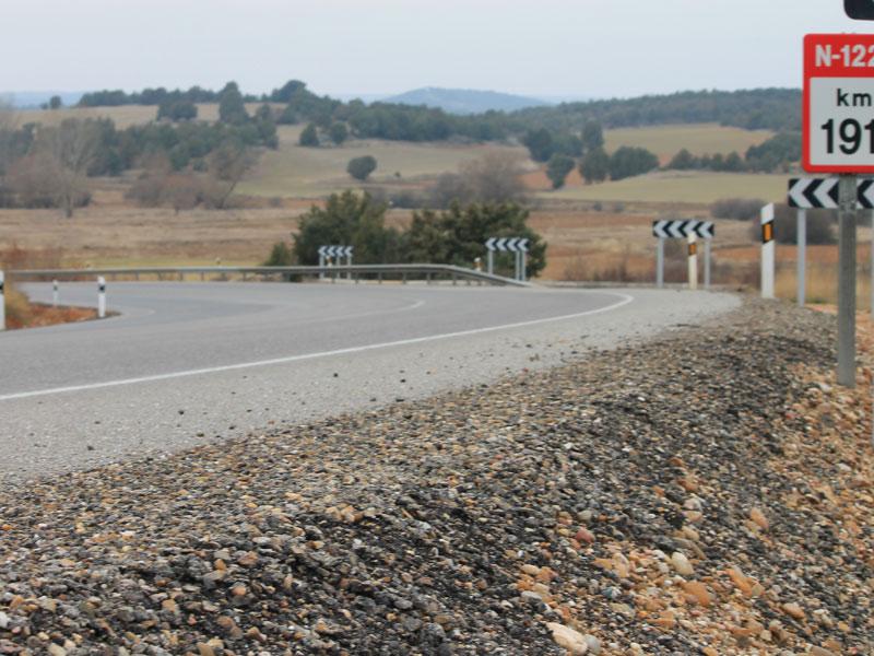 La N-122, en Soria, la carretera más peligrosa de España