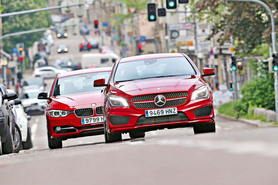 BMW 328 vs. Mercedes CLA