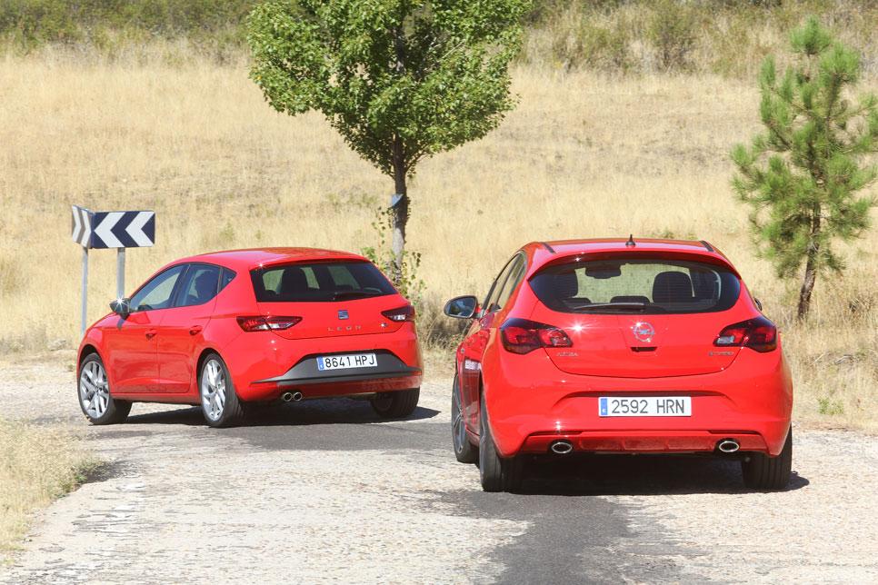 Comparativa: Opel Astra CDTi biturbo vs Seat León TDI FR