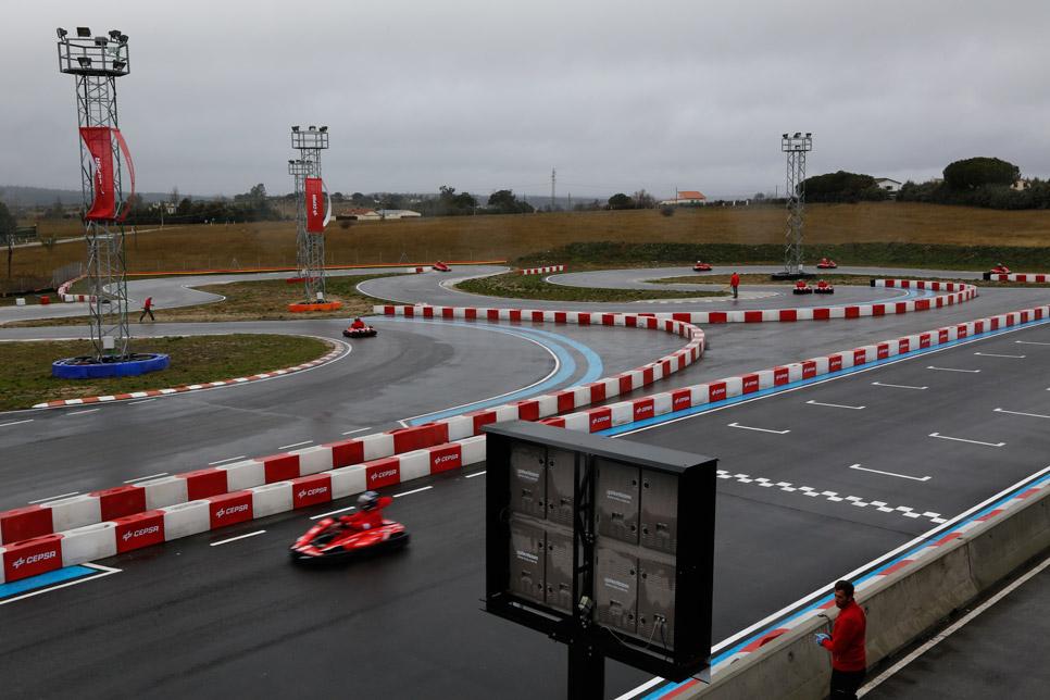 Una jornada de karting con los pilotos CEPSA