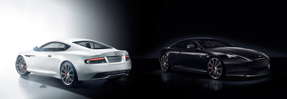 Aston Martin V8 Vantage, DB9 Carbon Black y White