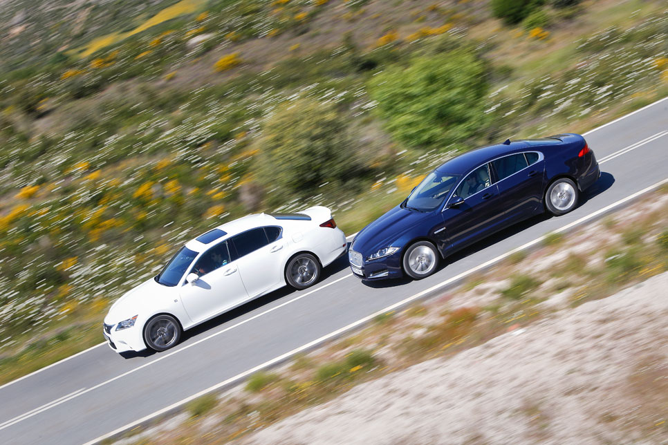 Lexus GS 250 y Jaguar XF 2.0 i4