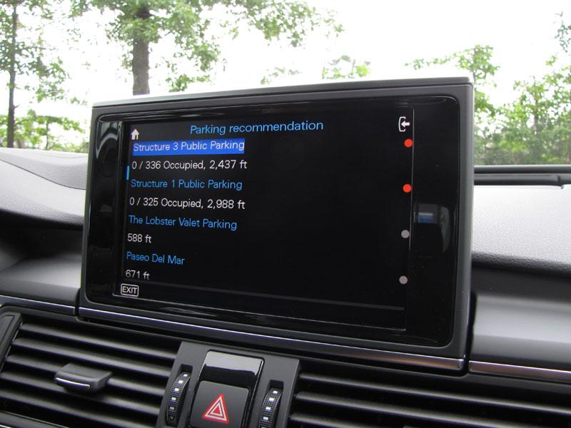 Audi te ayuda a buscar aparcamiento
