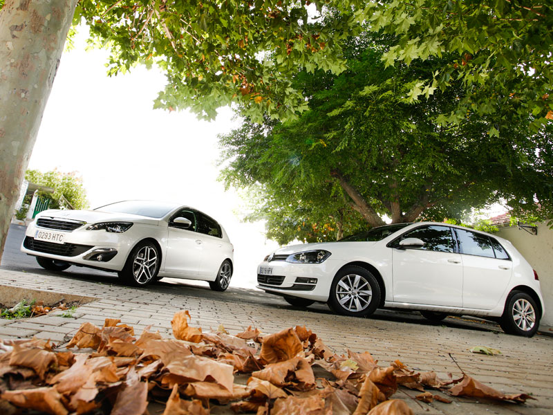 Peugeot 308 1.6 e-HDi/115 vs VW Golf 1.6 TDi/105