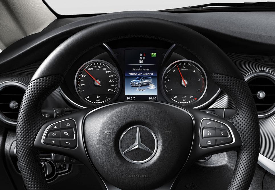 Mercedes Clase V, el contacto